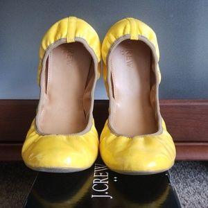 J. Crew Suzette Patent Ballet Flats